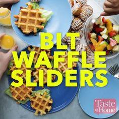 BLT Waffle Sliders Recipe