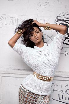 Rihanna- i love her love of fibers-she's always in something crocheted