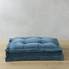 """CB2 Velvet Blue Green 23"""" Floor Cushion (280 PEN) ❤ liked on Polyvore featuring home, home decor, throw pillows, aqua home accessories, oversized throw pillows, modern throw pillows, modern home decor and blue green throw pillows"""