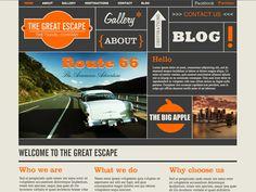 Moonfruit Template - Escape #website #design