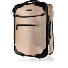 Glitter suitcase via riverisland River Island Fashion, Designer Luggage, Crazy Outfits, Biker Leather, Womens Purses, Pink Glitter, Luggage Bags, Sale Items, Purses And Bags
