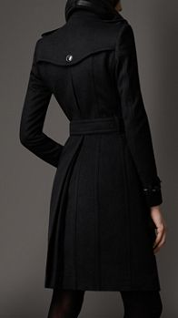 Long Wool Cashmere Regimental Trench Coat | Burberry