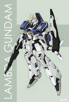 Lambda Gundam by Tekka-Croe.deviantart.com on @deviantART