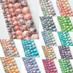 4MM ! Mixed Color 5AAA  Rainbow Round Natural Stone Beads for Women Bracelet making Jewelry Accessories Wholesale 95 piece/lot