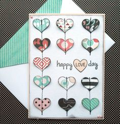 Valentines Day Card with Matching by SewColorfulDesigns on Etsy, $5.00