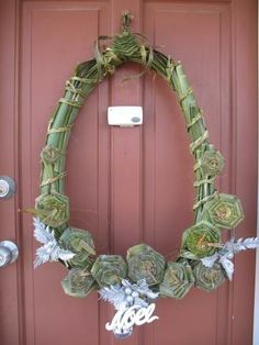 Flax flower Christmas wreath - will replace silver with pohutakawa flowers once they're flowering in the backyard. Bit of kiwiana! Christmas Ideas, Christmas Wreaths, Flax Flowers, Office Pods, Kiwiana, Xmas Crafts, Grapevine Wreath, Backyard, Places