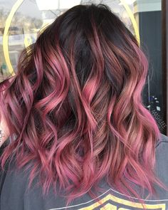 Pin by ambre hurtaud on hairs in 2019 pink purple hair, pastel hair, mom ha Pink Purple Hair, Hair Color Pink, Hair Dye Colors, Cool Hair Color, Bright Pink Hair, Pinterest Hair, Dye My Hair, Hair Looks, Hair Inspiration