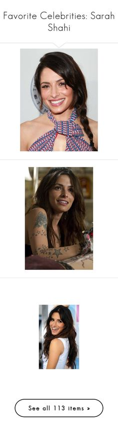 """""""Favorite Celebrities: Sarah Shahi"""" by pocahaunted666 ❤ liked on Polyvore featuring women, person of interest, sarah shahi, pictures, fitness and editorials"""