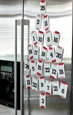 Hi Sugarplum | Super easy, but crazy cute, Advent Calendar. Seriously, it takes 10 mins and costs only a few bucks.