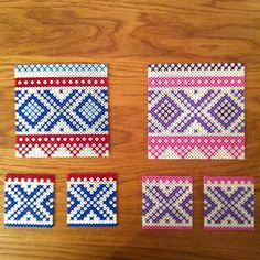 Marius pattern coasters hama perler beads by frkhemstad