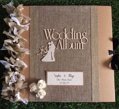 Excited to share the latest addition to my shop: Rustic/ vintage wedding scrapbook album/ photo album/ guestbook size Wedding Album Cover, Wedding Album Design, Wedding Photo Albums, Wedding Guest Book, Rustic Wedding Gifts, Personalized Wedding Gifts, Wedding Decor, Traditional Photo Albums, Wedding Scrapbook
