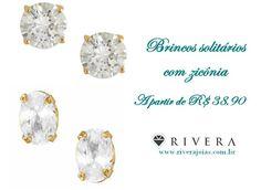 Blog Rivera Joias: Brincos solitários semi-jóia a partir de R$38,90 n... www.riverajoias.com.br