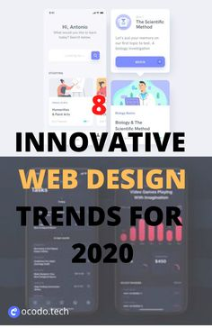 web design trends are constantly changing. In 2020, the technical possibilities seem endless and we're seeing designers play with extremes, reinvent previous styles and ceaselessly experiment with new techniques. At the same time, there are some popular styles that just won't go away, such as the ever-present minimalism and colorful flat illustrations we've been seeing for some time now. Web Design Projects, Web Design Trends, Best Web Design, Web Design Inspiration, Real Estate Website Design, Website Header Design, Blog Website Design, Vintage Web Design, Minimalist Web Design