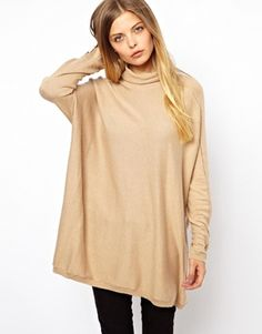 Ted Baker Oversized Roll Neck Jumper with Button Cuffs