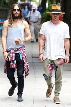 Jared Leto and Shannon Leto show us their take on plaid. #NYC