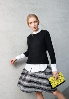 Black & White meets Flash Colours: #Look von #HUGO #Caliban und 'SteffenSchraut. #Frühjahrsommer2015 #Fashion #Reischmann #design