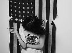 #hedi slimane #frances bean cobain #rock #american flag #trend #photography #wolfverine