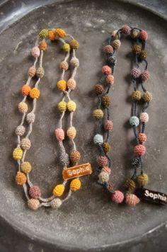 crochet ball necklace