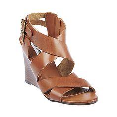 CITYLINE COGNAC LEATHER women's sandal mid strappy - Steve Madden