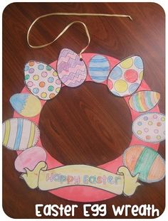Easter Egg Wreath and Photo Frame via Clever Classroom