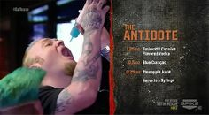 The Antidote (from Bar Rescue) Mixed Drinks Alcohol, Drinks Alcohol Recipes, Alcoholic Drinks, Drink Recipes, Bar Drinks, Cocktail Drinks, Cocktail Club, Spiked Lemonade, Famous Cocktails