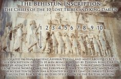 """The """"Earliest"""" Depiction of the 10-Lost-Tribe Chiefs of ISHaRaAL (Israel): the Behistun Inscription - ca 515 BCE - Yehweh Not Yahweh"""