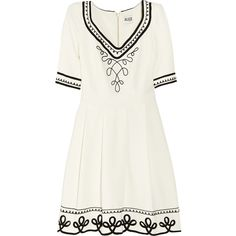 ALICE by Temperley Mini Blake embroidered jersey dress ($258) ❤ liked on Polyvore