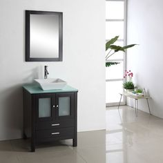 The Brentford 28-inch single sink vanity set is equipped with several soft-closing drawers and your choice of gorgeous countertop. A pre-drilled single hole faucet mount is added for your convenience.