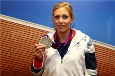 Team GB Women's-78kg  Judo Gold medalist Gemma Gibbons poses with her Silver medal at Team GB House in Stratford on August 2, 2012 in London, England