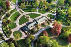 Vue aérienne du parc de l'Orangerie