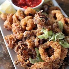 Fried Calamari with Marinara Sauce