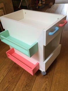 Mobile Kids Book Storage - IKEA Hackers