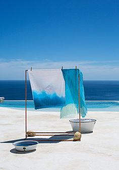 Dye-ing ... blue ... beach