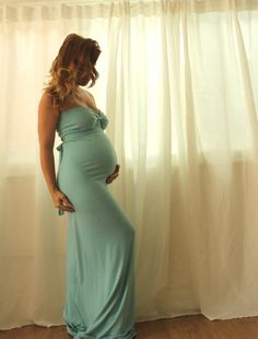 Maternity Gown Embiebaby Signature Gown Photo Prop Stretch Soft Jersey Long Maxi Dress Gender Reveal- many color options Pregnancy Looks, Pregnancy Outfits, Pregnancy Photos, Pregnancy Style, Pregnancy Fashion, Shower Outfits, Baby Shower Dresses, Hot Lingerie, Maternity Gowns