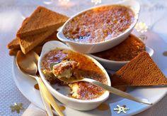 Crème brûlée au foie gras et fruits secs au muscatLire la recette de la crème brûlée au foie gras et fruits secs au muscat
