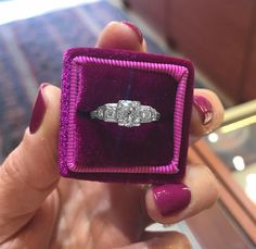 This #beautiful #Art #Deco #diamond #ring is set in #Platinum. The ring features an #old #European #cut €4,995 #Jewelry #The #Antiques #Room #Galway #Ireland