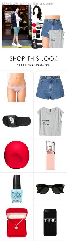"""Sem título #2484"" by myllenna-malik ❤ liked on Polyvore featuring Forever 21, Glamorous, NIKE, Eos, HUGO, OPI, Ray-Ban, Alexa Starr, OneDirection and louistomlinson"