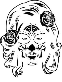 Looking for free pumpkin patterns. You can find easy, free, difficult, scary and fun pumpkin patterns and stencils. Sugar Skull Pumpkin, Day Of The Dead Skull, Scary, Stencils, Pumpkin Patterns, Halloween, Animals, Tattoo, Female