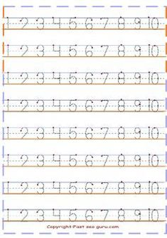 tracing numbers for kids.preschool numbers tracing worksheets coloring pages. print out numbers tracing worksheets handwriting practice sheet Letter Tracing Worksheets, Number Tracing, Printable Preschool Worksheets, Free Kindergarten Worksheets, Numbers Kindergarten, Numbers Preschool, Printable Coloring, Free Printable, Tracing Letters