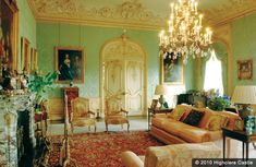 The drawing room within Highclere Castle, Newbury, England
