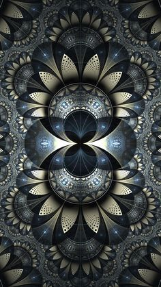 Majestic - fractal art.  Ok, someone make a quilt like this; great idea for one.