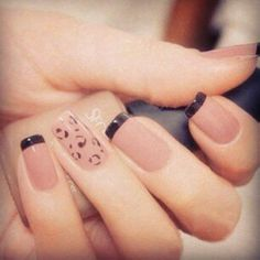 Love these color and nail art ideas! Choose nail designs you love! Fabulous Nails, Gorgeous Nails, Pretty Nails, Perfect Nails, French Nails, Hot Nails, Hair And Nails, Manicure E Pedicure, Black Nails