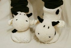 DIY cow socks