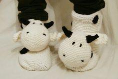 DIY cow socks