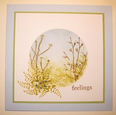 Feelings. Handstamped Card by Dianne ten Hove for Art Journey Challenge Circles