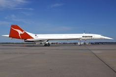 Concorde: Painted in Qantas Livery. Concorde, Tupolev Tu 144, Australian Airlines, Airline Uniforms, Airline Logo, Passenger Aircraft, Air Photo, Air New Zealand, Aviation Industry