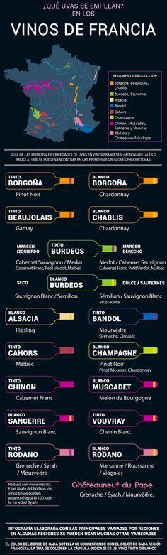 ¿Qué uvas se emplean en los vinos de Francia? - Area del Vino