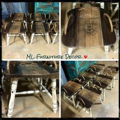 An original design by ML Furniture Decor ❤️  Cool stools!!!