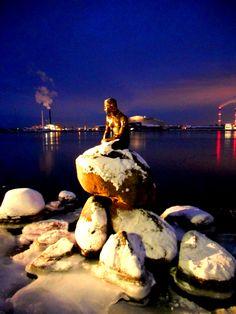 The Little Mermaid in White, Copenhagen, Denmark (2010)  by Can Cihan
