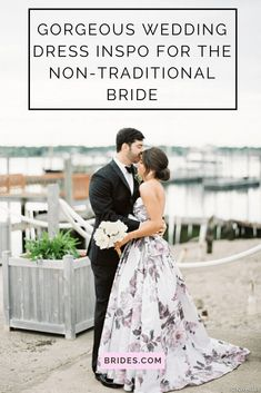 Non-traditional brides, we've rounded up our favorite unconventional wedding dresses that surely break the mold.